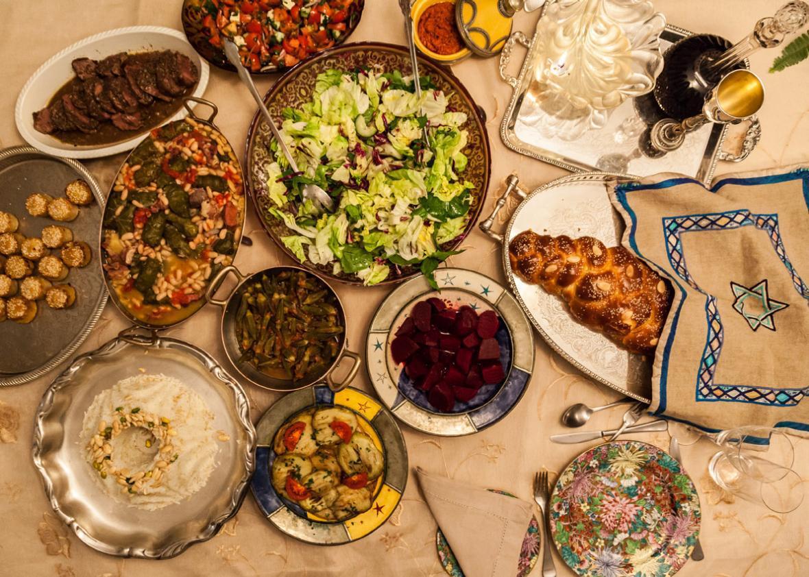 Our magnificent Shabbat dinner