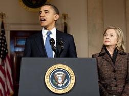 Barack Obama and Hillary Clinton. Click image to expand.