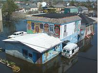 The Mother-In-Law Lounge after Katrina. Click image to expand.