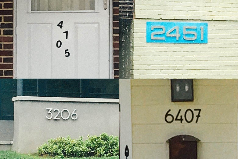 Four sans serif houses.