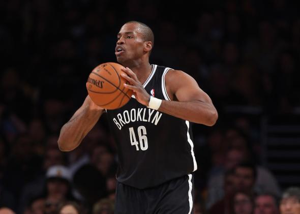 Jason Collins in his Brooklyn Nets debut.