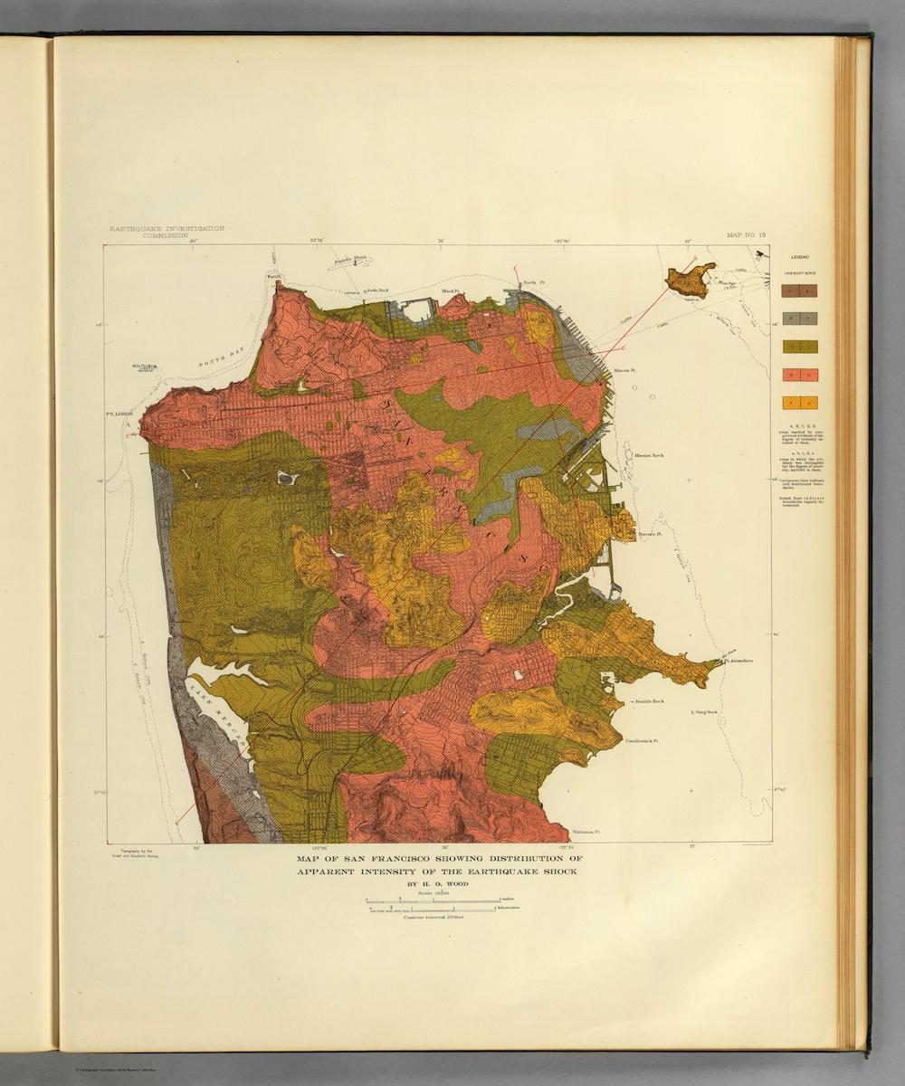 San Francisco Earthquake Maps Of The Geographical Distribution Of