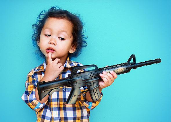 kids childs police toy plastic gun shooting shoot stocking filler play cowboy