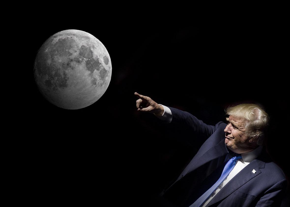 Resultado de imagen para donald trump moon mars