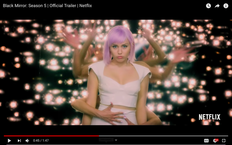 Miley Cyrus Is a Purple-Haired Pop Star in New Black Mirror Trailer