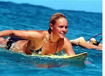 Kate Bosworth heads for the pipe in Blue Crush