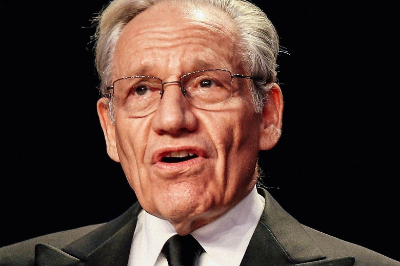 Close-up on Bob Woodward speaking