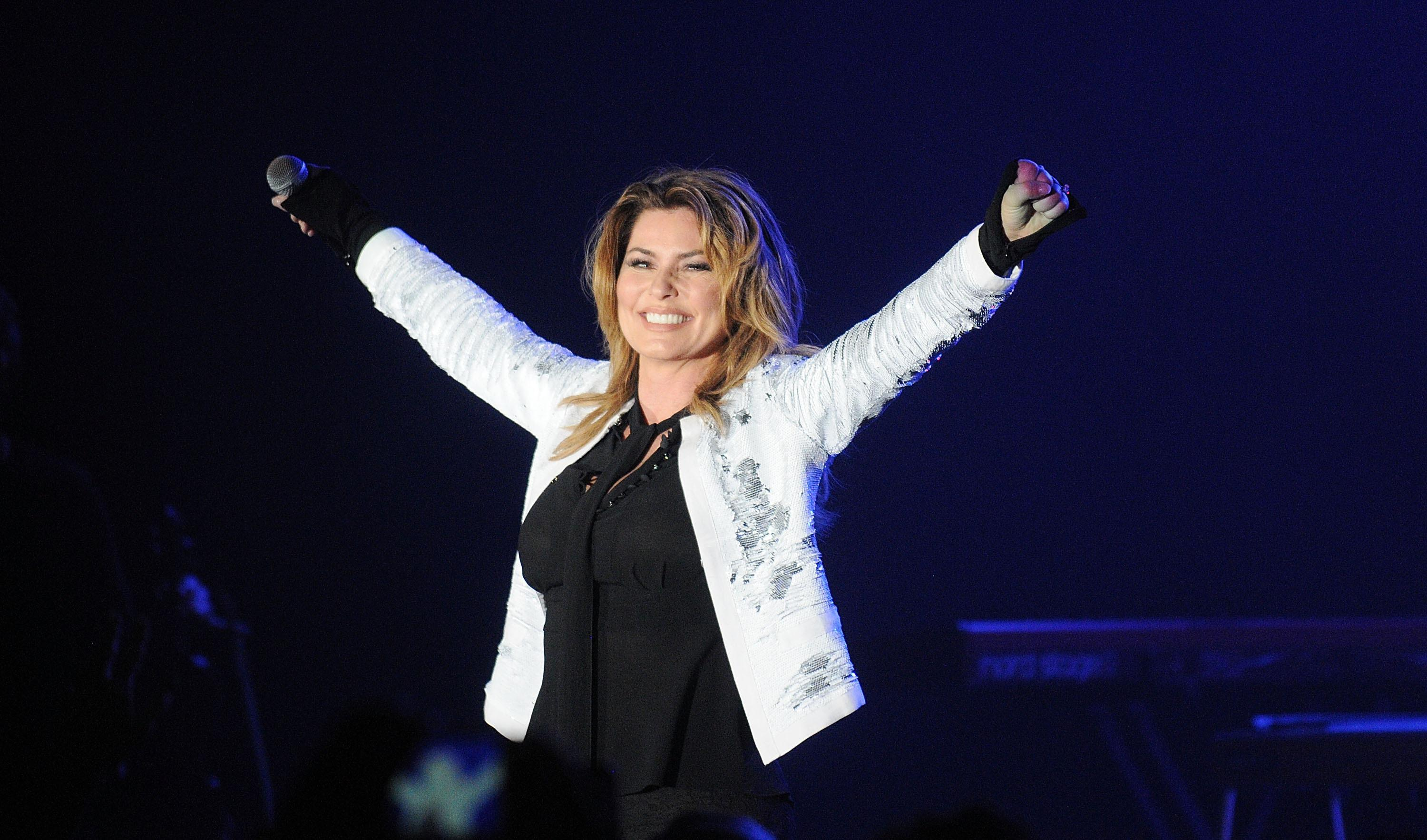 Shania Twain performing in 2017.