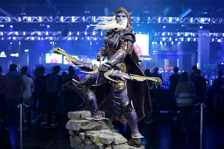 A general view of the atmosphere at BlizzCon 2019 at the Anaheim Convention Center in California on Friday.
