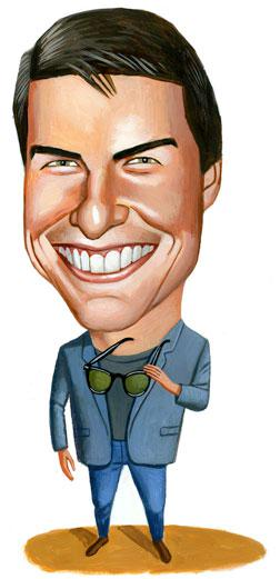 Tom Cruise. Illustration by Charlie Powell.