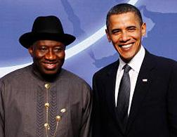 Goodluck Jonathan with Barack Obama. Click image to expand.