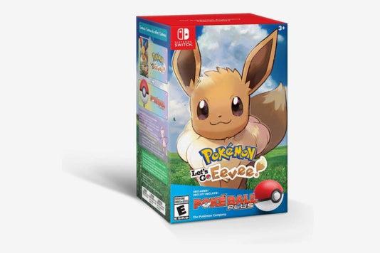 Pokémon: Let's Go, Eevee! + Poké Ball Plus Pack.