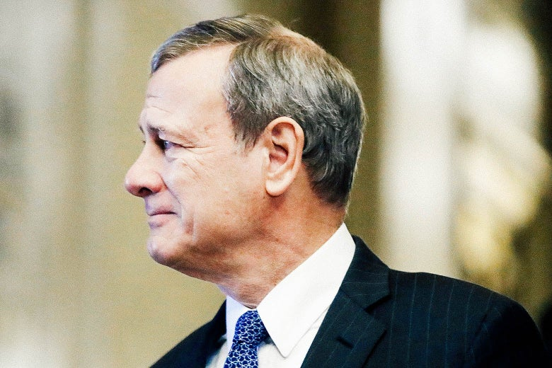 John Roberts, in profile.