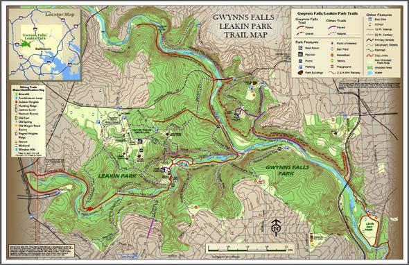 Map courtesy of Friends of Gwynns Falls/Leakin Park, Inc.