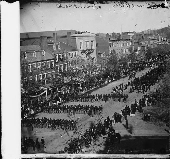 Lincoln's funeral on Pennsylvania Avenue in Washington, D.C., on April 19, 1865