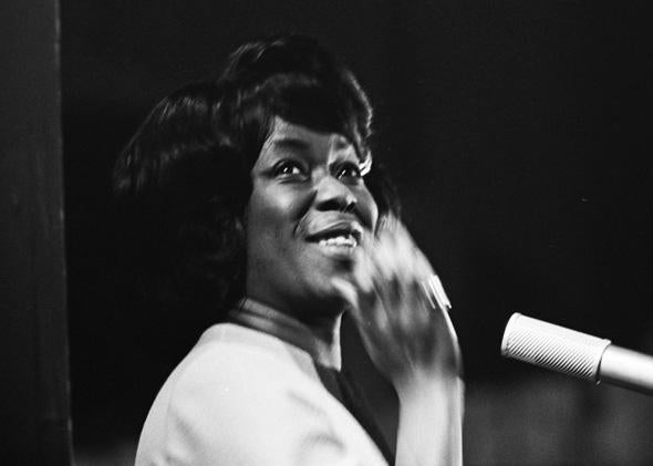Sarah Vaughan at the Grand Gala du Disque Populaire 1963 in the Netherlands