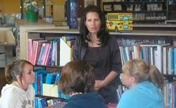 Michelle Bachmann at Big Lake Middle School.