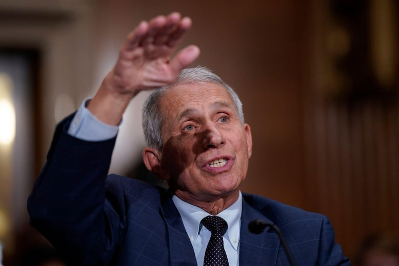 Dr. Anthony Fauci, director of the National Institute of Allergy and Infectious Diseases, responds to questions by Senator Rand Paul during the Senate Health, Education, Labor, and Pensions Committee hearing on Capitol Hill in Washington, D.C. on July 20, 2021.