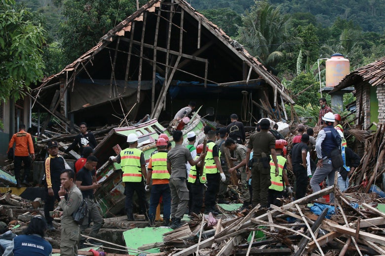 Indonesia tsunami kills more than 200 without warning after
