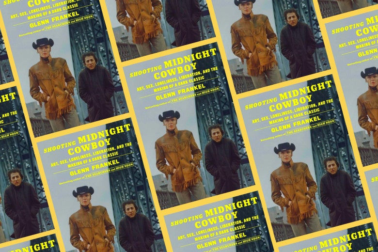 A repeating pattern of covers of Shooting Midnight Cowboy.