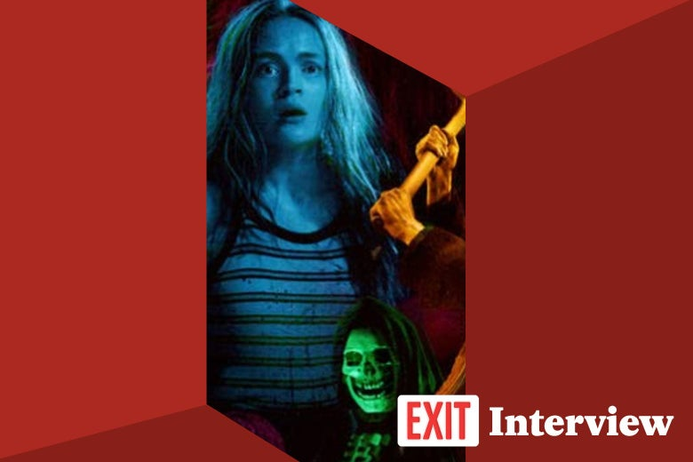 Images from Fear Street and a logo reading Exit Interview