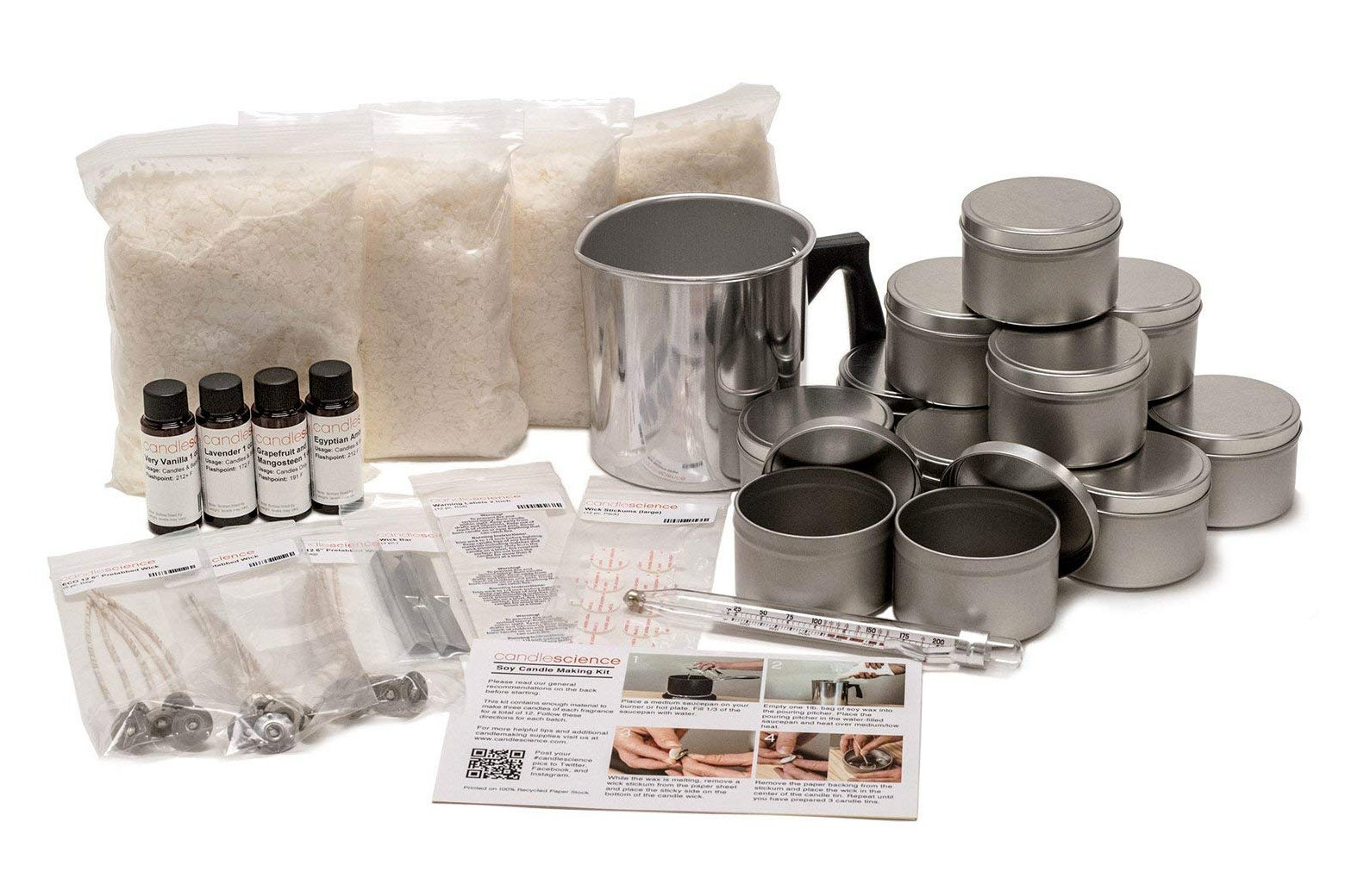 CandleScience Soy Candle Making Starter Kit.