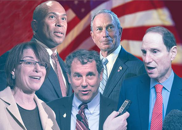 US Senator Amy Klobuchar, Democrat of Minnesota; Massachusetts Governor Deval Patrick; Sen. Sherrod Brown, D-Ohio; Mayor of New York City Michael Bloomberg; Sen. Ron Wyden, D-Oregon.