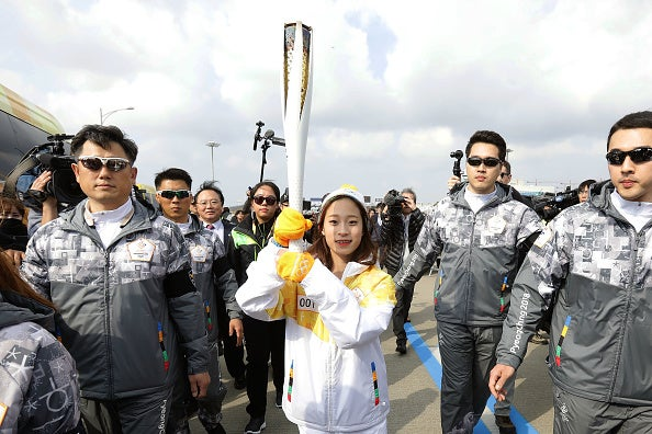 South Korean figure skater You Young begins torch relay on Nov.1 for the PyeongChang 2018 Winter Olympics.