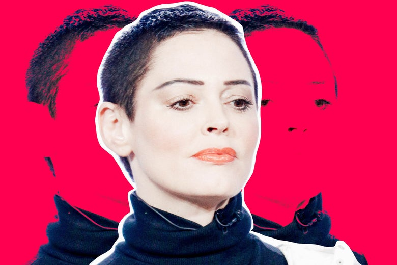 Rose McGowan speaks onstage during the NBCUniversal portion of the Television Critics Association Winter 2018 Press Tour at the Langham Huntington on Jan. 9 in Pasadena, California.
