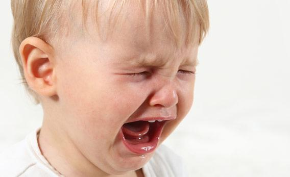 Child crying.
