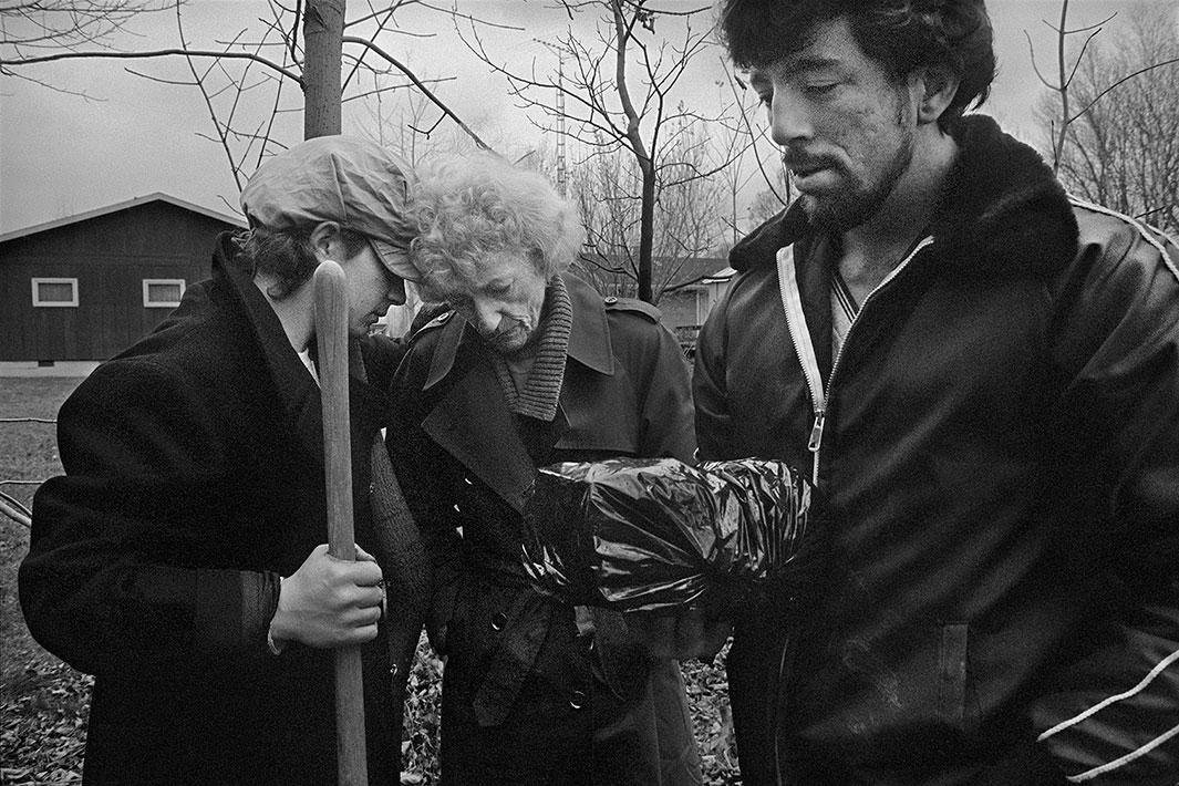 Burying Dad's Ashes, Canada, 1985, with Andy and Bob
