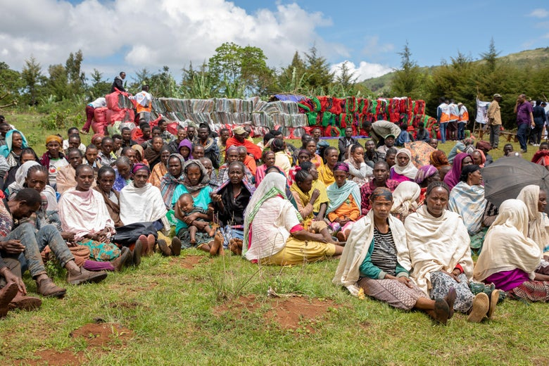 Displaced people in Qercha village, southern Ethiopia