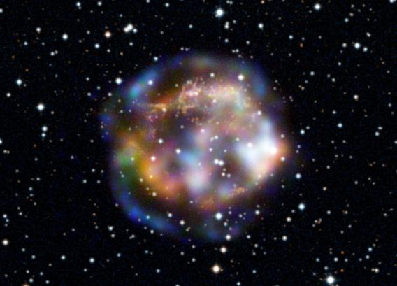 X-ray image of the exploded star Cas A.