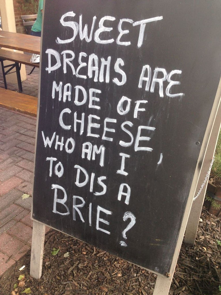 Against overly clever sidewalk sandwich-board signs: Why
