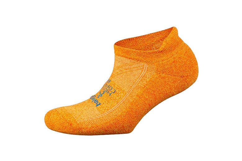 Orange socks.