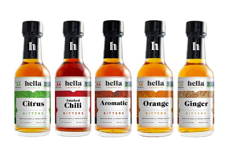 Hella cocktail co. bitters set.