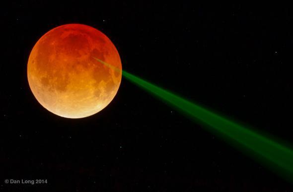lunar eclipse laser