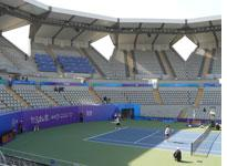 Inside the tennis center. Click image to expand.