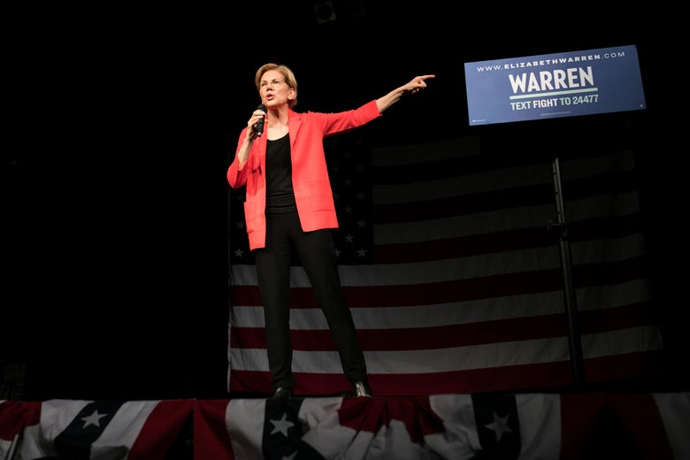 Democratic Presidential candidate Sen. Elizabeth Warren speaks at Bogart's in Cincinnati, OH on May 11, 2019.