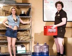 Elizabeth Banks and Seth Rogen in Zack and Miri Make a Porno.