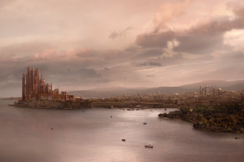 A panoramic view of King's Landing.