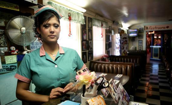 Waitress at a diner.