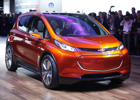 GM revealed the all-electric Chevrolet Bolt concept at the 2015 North American International Auto Show in Detroit.