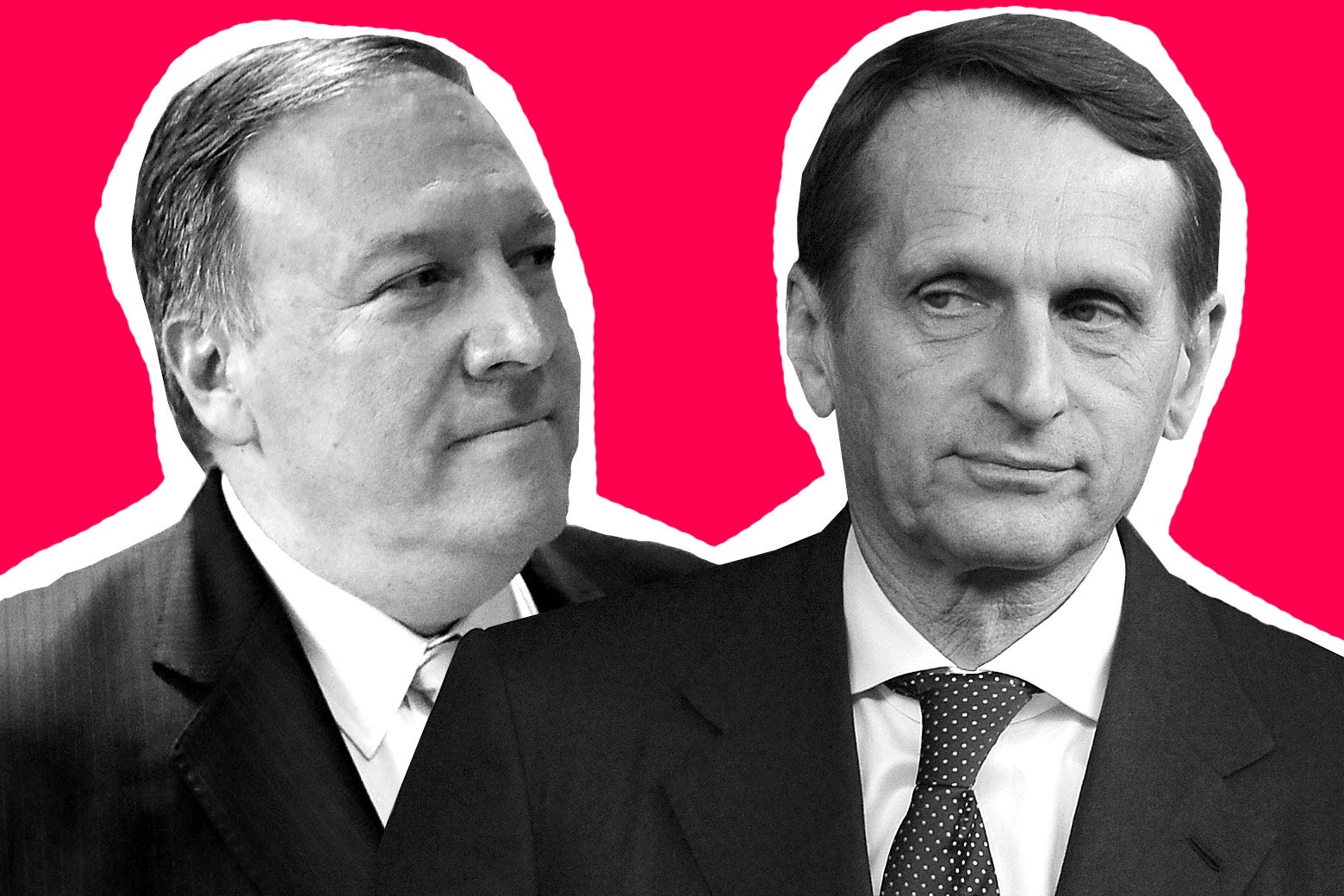 Mike Pompeo and Sergei Naryshkin.