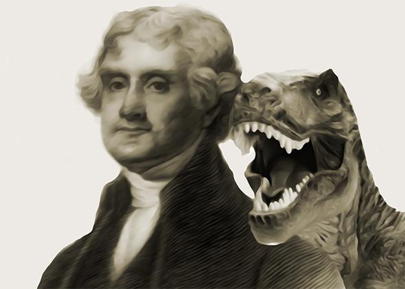 Thomas Jefferson and a dinosaur