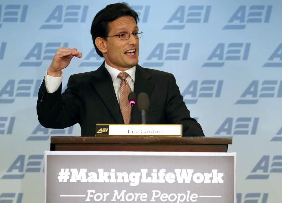 Eric Cantor AEI speech covers Republicans' wide-ranging policy agenda