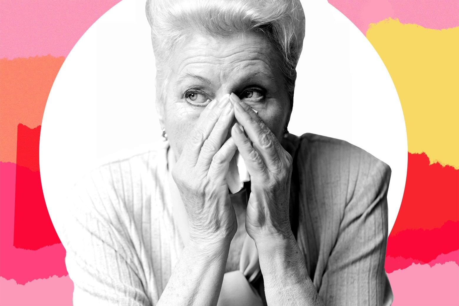 A sad grandmother.