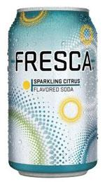 Can of Fresa soda.