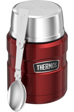 Thermos Stainless King 16 Ounce Food Jar with Folding Spoon.