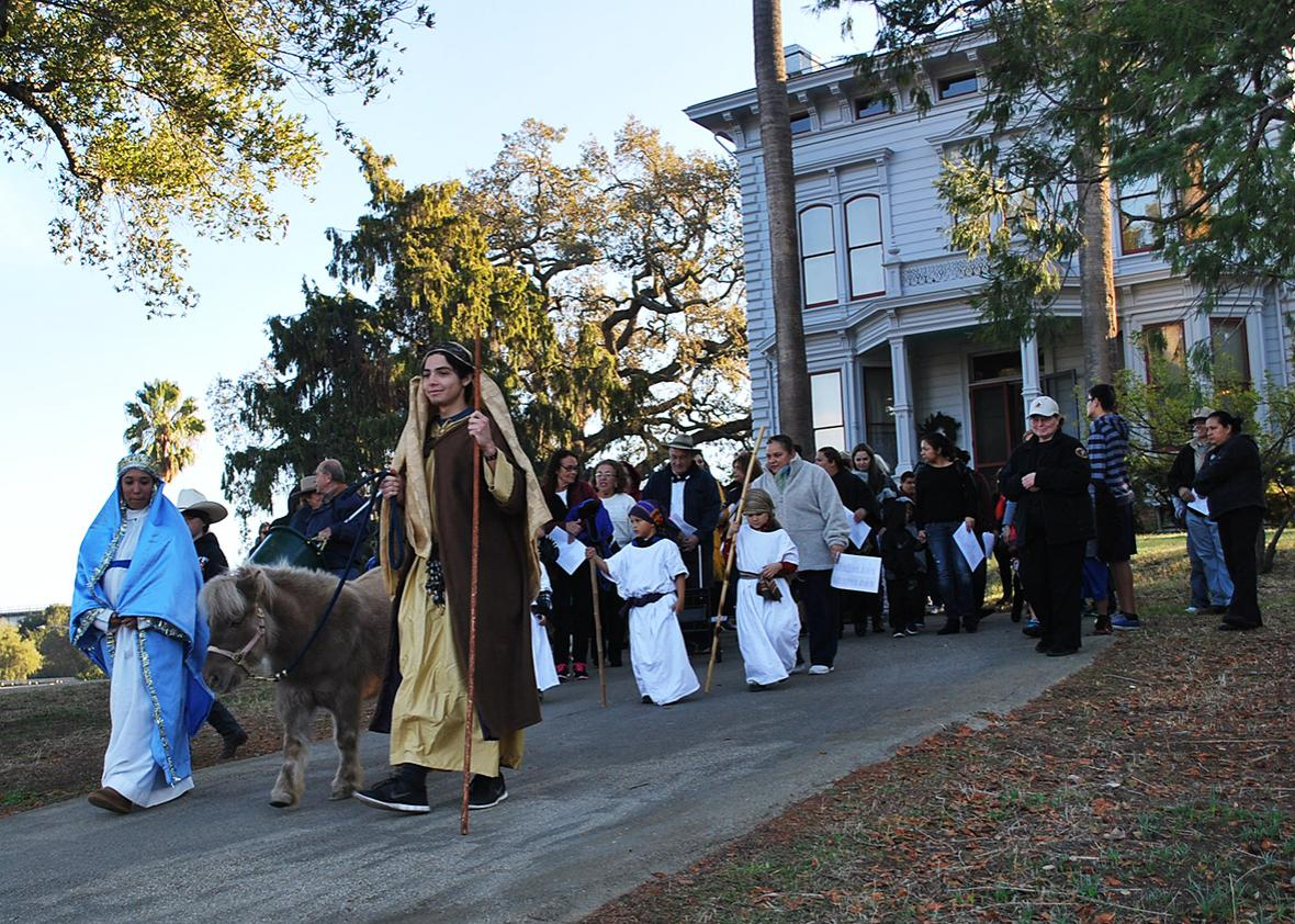 Las Posadas Procession at the John Muir National Historic Site Martinez, California, in partnership with the Anza Trail and the Spanish Choir of Saint Catherine of Siena, shared the history of Las Posadas on December 14, 2013.